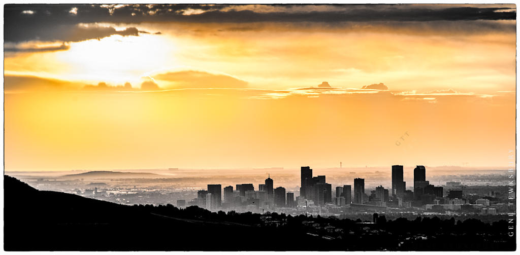 Denver Sunrise Skyline