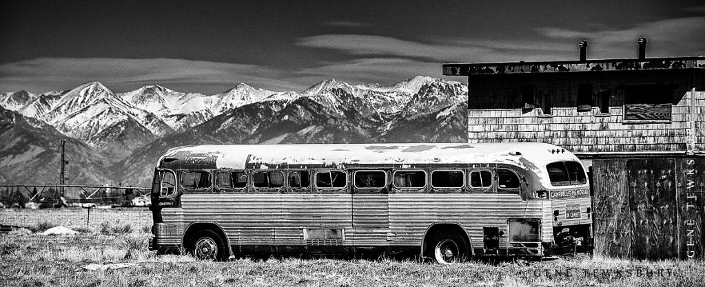 Bus in Drive In Theater