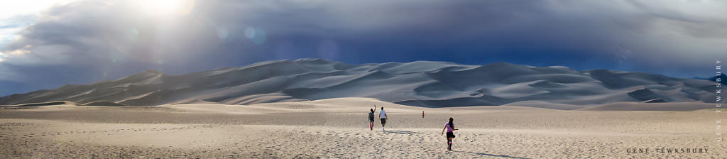 Family in the Dunes